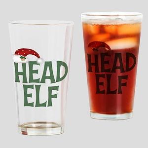 Head Elf Drinking Glass