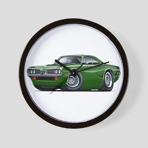 1970 Super Bee Green Car Wall Clock