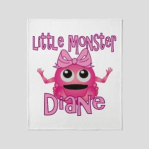 Little Monster Diane Throw Blanket
