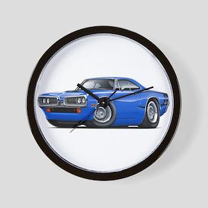 Super Bee Blue-Black Car Wall Clock