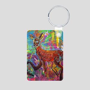 Oh Deer God Aluminum Photo Keychain
