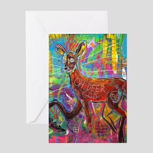 Oh Deer God Greeting Card