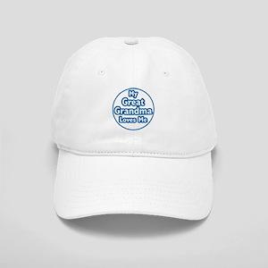 Great Grandma Loves Me Cap