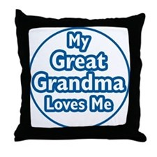 Great Grandma Loves Me Throw Pillow