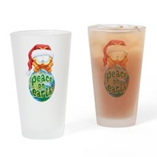 Peace on Earth Garfield Drinking Glass