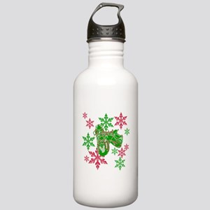Running Shoes & Snowflakes Stainless Water Bottle
