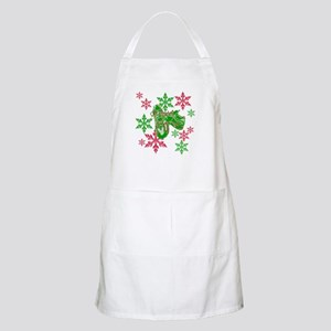 Running Shoes & Snowflakes Apron