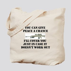 Peace or Protection Tote Bag