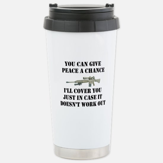 Peace or Protection Stainless Steel Travel Mug