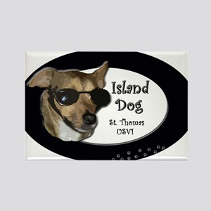 st thomas island dog Rectangle Magnet
