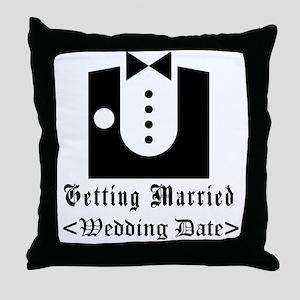 Groom (Type In Wedding Date) Throw Pillow