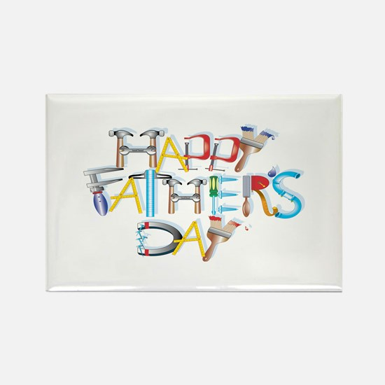 Happy Father's Day Rectangle Magnet (10 pack)