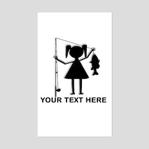 CUSTOMIZABLE REEL GIRL Sticker