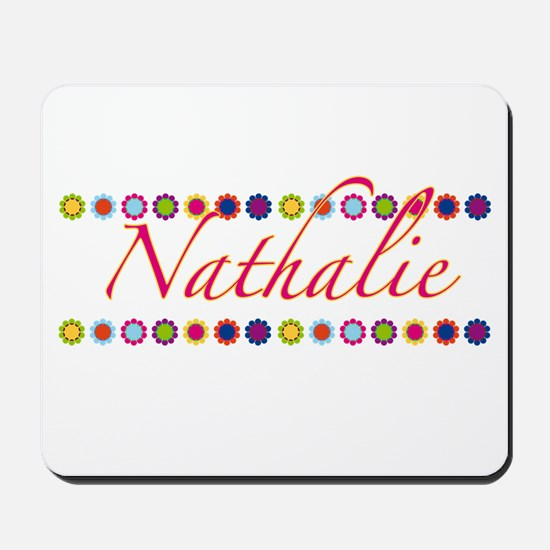 Nathalie with Flowers Mousepad