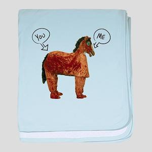 Horse's Ass baby blanket