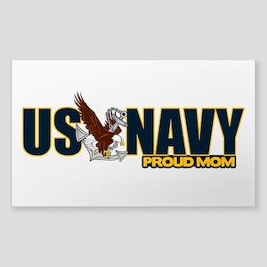 Navy Mom Sticker (Rectangle)