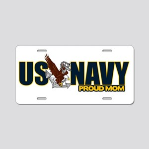 Navy Mom Aluminum License Plate
