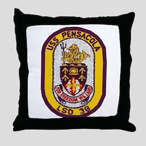 USS Pensacola LSD 38 Throw Pillow