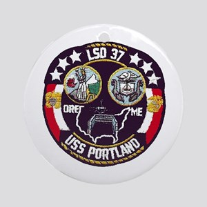 USS Portland LSD 37 Ornament (Round)