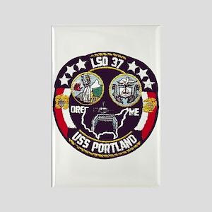 USS Portland LSD 37 Rectangle Magnet