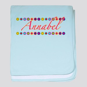 Annabel with Flowers baby blanket