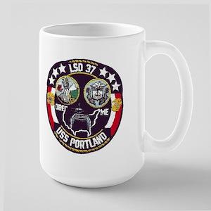 USS Portland LSD 37 Large Mug