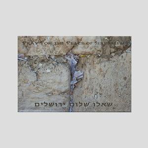 Pray For Jerusalem Rectangle Magnet