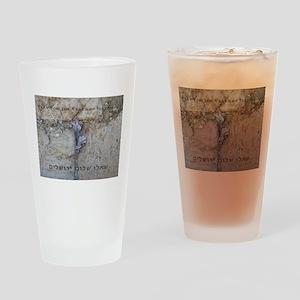 Pray For Jerusalem Drinking Glass
