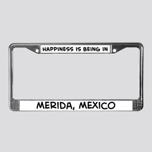 Happiness is Merida License Plate Frame