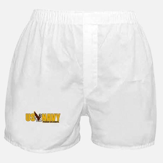Navy Grandpa Boxer Shorts