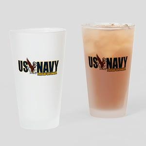 Navy Grandpa Drinking Glass