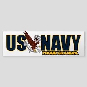 Navy Grandpa Sticker (Bumper)
