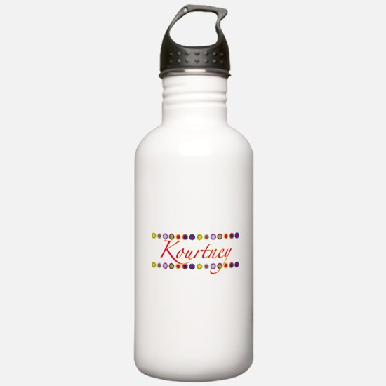 Kourtney with Flowers Water Bottle