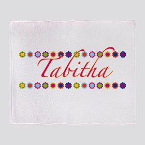 Tabitha with Flowers Throw Blanket