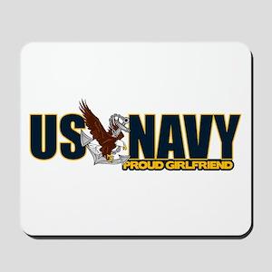 Navy Girlfriend Mousepad