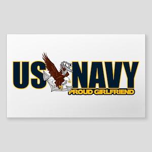Navy Girlfriend Sticker (Rectangle)