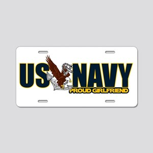 Navy Girlfriend Aluminum License Plate