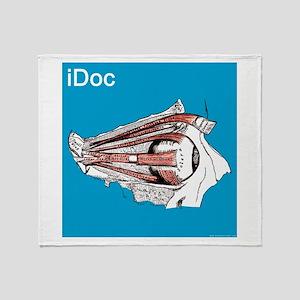 iDoc Aqua Throw Blanket