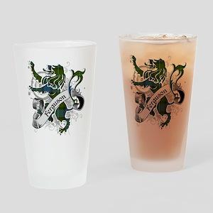 Ferguson Tartan Lion Drinking Glass