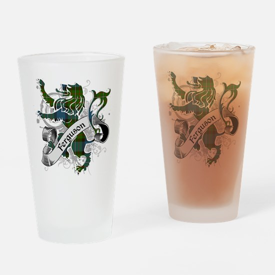 Ferguson Tartan Lion Drinking Glass