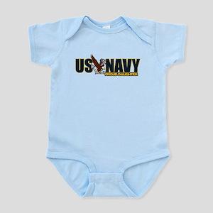 Navy Daughter Infant Bodysuit