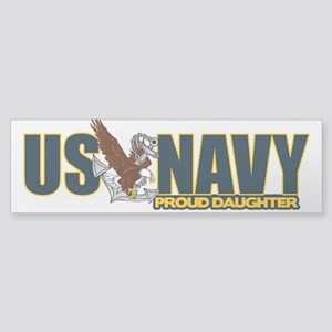 Navy Daughter Sticker (Bumper)