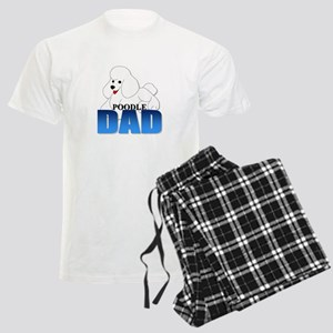 White Poodle Dad Men's Light Pajamas