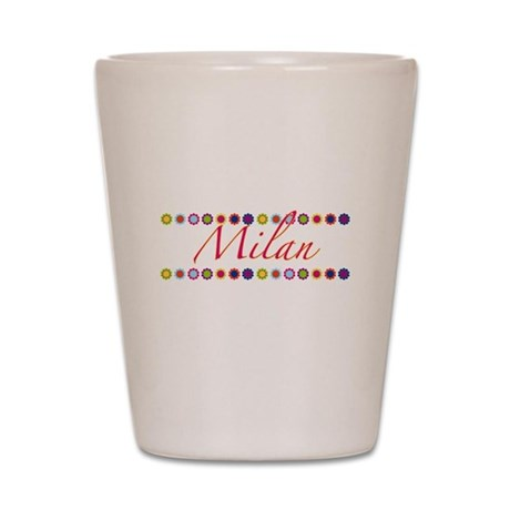 Milan with Flowers Shot Glass