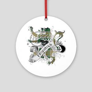 Fitzpatrick Tartan Lion Ornament (Round)