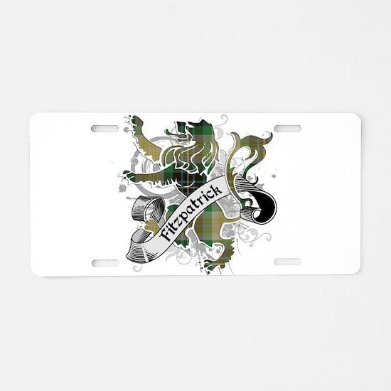 Fitzpatrick Tartan Lion Aluminum License Plate