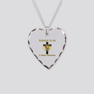 Blessed Great Grandma Necklace Heart Charm