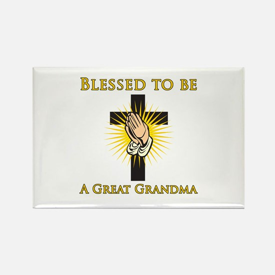 Blessed Great Grandma Rectangle Magnet