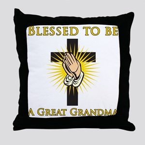 Blessed Great Grandma Throw Pillow