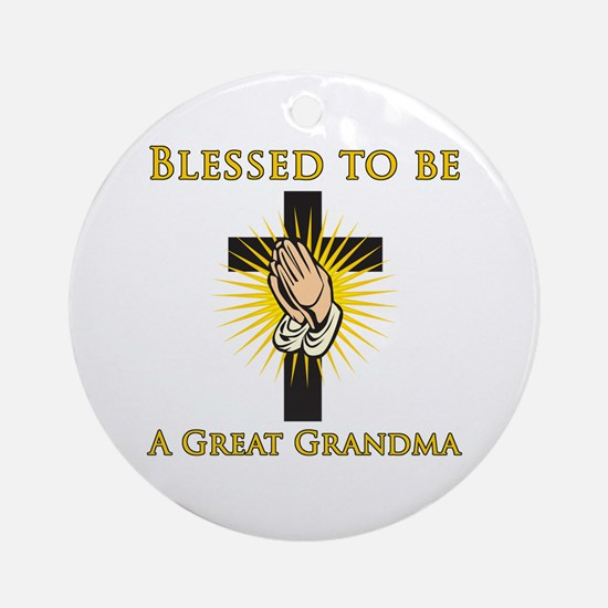 Blessed Great Grandma Ornament (Round)